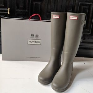 Hunter Boots Refined Slim Fit/Olive Green/US 8